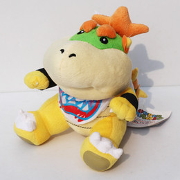 "Wholesale Super Mario Koopa - Super Mario bros plush toys 7"" Koopa Bowser dragon plush doll Bowser JR soft Plush"