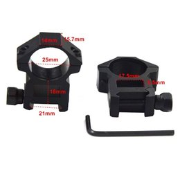 Wholesale Mounts 25mm - 1pair 25mm Rings hunting accessories for 21mm weaver picatinny Rail mounts adapter for scope - M38