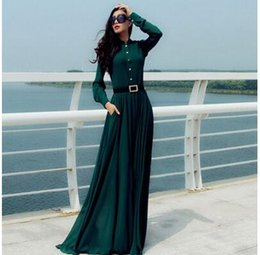 Wholesale Pencil Flare - Selling discount high-quality design retro long-sleeved long dress mopping dress large size women's European and American classic shipping