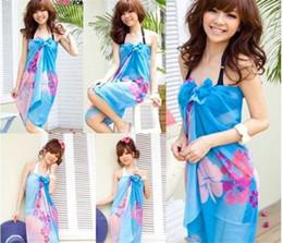 166160cfb1 Sexy Women Chiffon Bikini Cover Up Beach Swimwear Sarong Wrap Dress Scarf  Pareo