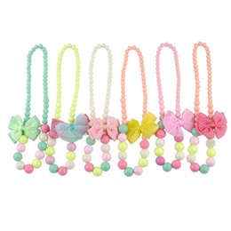 Wholesale Silicone Jewelry Baby - Cool all-match 2015 new simple Baby Child Girls jewelry necklace Bracelets set beads accessories summer style