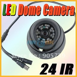 "Wholesale Ccd 24 Ir - New 24 IR LED 3.6MM Lens 1 4"" CMOS CCD Dome Camera Security Surveillance Indoor Black"