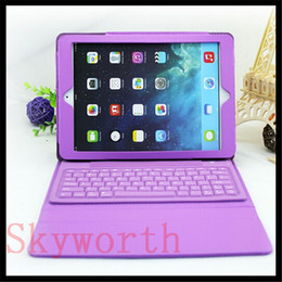 Wholesale Wholesales Wireless Accessories Stand - Bluetooth Wireless Keyboard leather case for Ipad 3 4 5 6 air mini 2 retina Stand Holder Protector 6 Colors