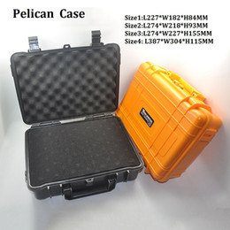Wholesale Plastic Waterproof Cases - Wonderful ABS Case VS Pelican Waterproof Safe Equipment Instrument Box Moistureproof Locking For Gun Tools Camera Laptop VS Ammo Aluminium