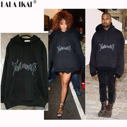Wholesale Tyga Sweatshirts - Wholesale- Oversized Hoodies Men Hooded Letter Vetements Kanye West Brand Cotton Sweatshirts Men Swag Tyga Justin Bieber Brand SMR0578-4