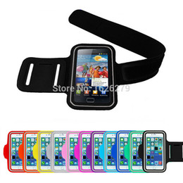 Wholesale Top Waterproof Iphone 5s Cases - Wholesale-Top Quality Waterproof PU Leather Armband Phone Case For IPHONE5 IPHONE 5 5S 5C Belt Wrist Strap Arm Band Bag iPhone6 Wholesale