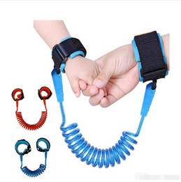 child safety bracelets Coupons - Kids safety wristband anti-lost Wrist Link Baby Toddler Harness Leash Strap Anti Lost bracelet Adjustable Leashes Children walk BY