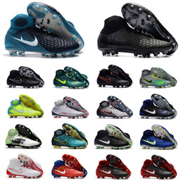 Wholesale Football Shoes Sale - Hot Sale 2018 Size 35-45 Mens Women Kids Football Boots 3D Magista Obra II FG Soccer Shoes Turf Outdoor Soccer Cleats Sneakers