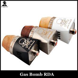 Wholesale Wood Bullets - Bullet Feature Designed Gas Bomb RDA Mods Rebuildable Atomizer Wood Bore Dripper Vaporize Adjustable AirFlow Mechanical Mod Vapor