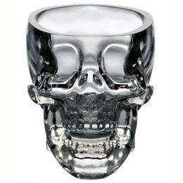 Wholesale New Shot Glasses - Wholesale-New Crystal Skull Head Vodka Whiskey Shot Glass Cup Drinking Ware Home Bar Cup Mug