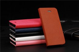 Wholesale 5c Cover Wood - Toq Quality Leather PU Flip Case Stand Cover for Iphone 5C Mobile Phone Cases Fashion Wood lines Card Horder Design PY