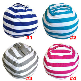 Wholesale Flat Chair - Newest Storage Bean Bags Kids Plush Toys Beanbag Chair Bedroom Stuffed Animal Room Mats Portable Clothes Storage Bag 4 Colors WX9-168