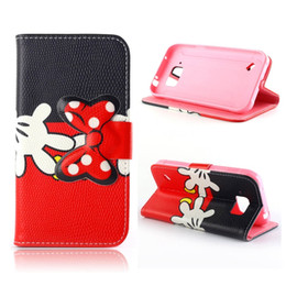 Wholesale Leather Case Galaxy Core - For Samsung Galaxy Note 5 Note5 S6 Edge Plus Active Core Prime G360 J1 Cartoon Mickey Minnie Mouse Leather Wallet Pouch Case Stand cover Bag