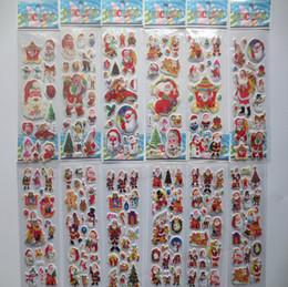 2019 статические настенные наклейки 2015 новые рождественские 3D мультфильм наклейки Санта-Клаус стены стикеры Рождественская елка снеговик подарок Пастер детский сад награда