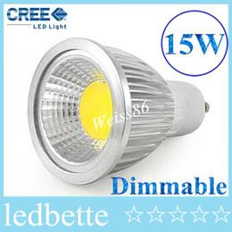 Canada Livraison gratuite Dimmable Led COB Lampe PAR16 15 W E27 GU10 E14 GU5.3 85-240 V MR16 12 V Led Spotlight led ampoule downlight éclairage ampoules supplier led mr16 12v 15w dimmable Offre