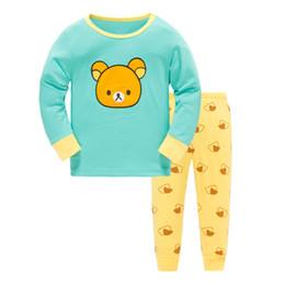 Wholesale Animal Pajama Suits - Fashion kids clothes suit children's pajama new conton small children's pajamas in the spring autumn 2017 wholesale