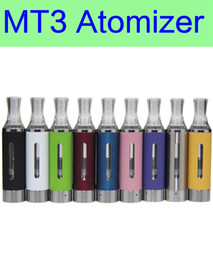 Wholesale Ego Rebuildable - Wholesale MT3 Atomizer E cigarette rebuildable bottom coil Clearomizer tank for EGO battery DHL free shipping