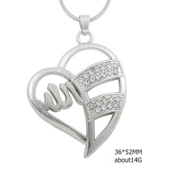 Wholesale Diy Dangle Charm - fashion design hollow heart dangle clear crystal necklace snack chain necklace for diy jewelry making