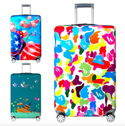 Wholesale Luggage 28 Inch Travels - Thick elastic travel luggage case bag cover durable dust proof suitcase cover S M L XL 18-21, 22-24, 25-28, 29-32 inch