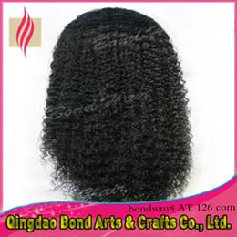 Wholesale Brazilian Virgin Wig Deep Curl - Deep curl hair wigs Malaysian lace front wigs kinky curly human hair wigs 6A virgin hair glueless full lace wigs 130% density