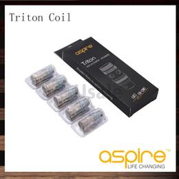 Atomizador de triton on-line-Aspirar a bobina de Triton dirige o atomizador de Triton RBA bobina 0.3ohm 0.4 ohm 1.8ohm 0.15ohm Bobina de Ni200 TC algodão orgânico japonês que wicking o original de 100%