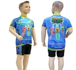 Wholesale Children S Bikes - Children cute Cartoon cycling clothing short sleeve Set Good Quality Farbic Boys and Girls Bike Wear Kid sports Jersey S-XXL