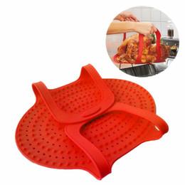 Rote silikon-pads online-Verdickte Silikon Backformen hitzebeständig mit Griffen Türkei Matten weichen nicht giftig für Ofen Pads rot grün 30tt b
