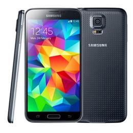 Wholesale S5 Unlocked Inch - Original 5.1 inch Samsung Galaxy S5 Refurbished G900T G900F Unlocked Smartphone 2GB 16GB Quad Core Smart Cell Phones