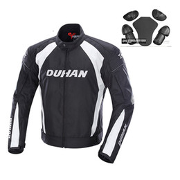 Wholesale Duhan Race Jacket - DUHAN 3M Reflective Men's Motorcycle Windproof Riding Jacket Women's Motocross Off-Road Racing Sports Jacket Clothing with Protector Guards