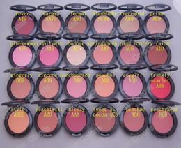 composição natural do blush Desconto Maquiagem Shimmer Blush Sheer Tone Blush 24 Cores Diferentes Sem Espelhos No Escova 6g Mini ordem 24 Pcs
