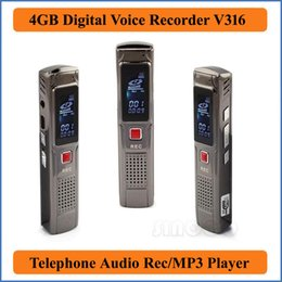 Wholesale Retailing Online - Silver 4GB USB Digital Voice Recorder with MP3 Function USB 2.0 High Speed wholesale and retail online Dictaphone Phone Audio VR316