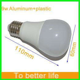 2019 aluminium-kühler 50PCS 9W 5730 führte Glühlampe-Helligkeit 900Lm weißes Plastikaluminiumlicht 270 Winkel-kühle weiße warme weiße geführte Dimmable Birne AC110-220V CRI 80Ra rabatt aluminium-kühler