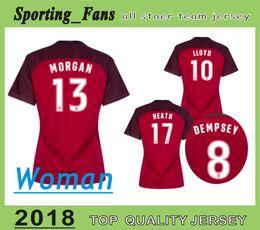 Wholesale Wholesale Women S Jerseys - Top quality woman jerseys 2018 USA red JERSEYS Carli Lloyd Sydney Leroux Alex Morgan Julie Ertz