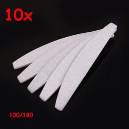 Wholesale Paper Manicure - Wholesale-10PCS free eva japan sands paper sanding good quality manicure professional 100 180 grey zebra half moon nail file for salon