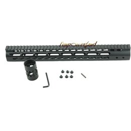 Guardia di mano online-Funpowerland Black Float NSR 15 pollici Handguard One-piece Top Rail System KeyMod Alta qualità Lightest per AR-15 M4 M16