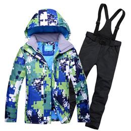 Wholesale Woman Orange Ski Jacket - Wholesale- Male Snow Skiing Suit Water Windproof Mountaineering and Skiiing jacket + Snow Bib Pants Super Keep Warmth Men & Women Clothes