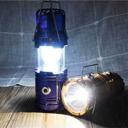 Wholesale Hanging Solar Camping Lights - Summer LED Solar Power Outdoor Camping Lamp with Fan Hanging Portable Tent Telescopic Emergency Lamp Hand Lantern Light For Outdoor Hiking