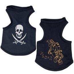 Wholesale Pirate Shirts - Cool Dog clothes Pirate Skull & Tiger Pattern dog Vests T-shirt ,fashion Dog Shirt for small animals 10pcs dog clothes wholesale