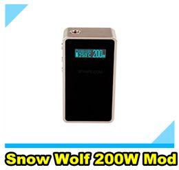 Lobo de neve mini on-line-Genuine 200 Watt Sigelei Snow Wolf Snowwolf Box Mod 200W Controle de Temperatura SX Mini M Classe subtanque Mini OCC NI200 Bobina