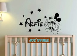 Personalised Large Mickey Mouse Wall Sticker Any Name Decal Boys Bedroom Wall  Sticker Home Decoration 60cmX100cm Part 75