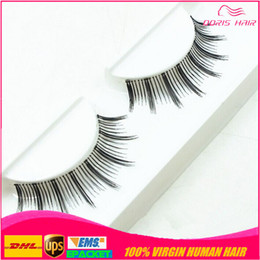 Wholesale Blink Lashes - Hot Sales human hair Natural OR Thick Fake False Eyelashes Fashion Lash Blink Black Full Strip Fake Lashes Makeup Tool Free shipping