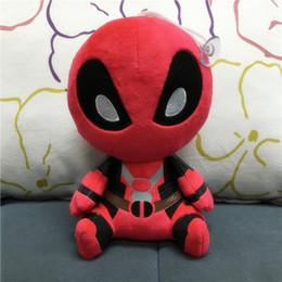 Wholesale Superheroes Plush Toys - 8inch Deadpool Plush Toys soft doll EMS Movie X-men Superhero Deadpool Stuffed Animals PP cotton doll 20cm