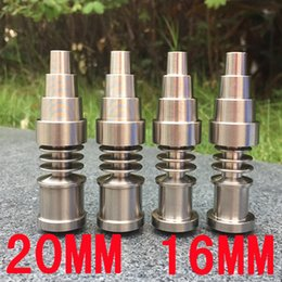 Ongles en porcelaine en Ligne-Clous sans ongles en titane en gros titane ongles 16 20 mm pour l'eau Bong en verre de pipe Fumer fabriqué à partir de la Chine