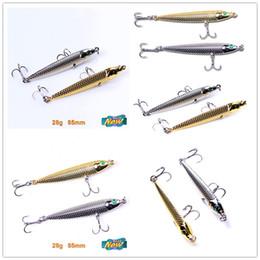 señuelos 28g Rebajas Hierro Plomo Aleación Bionic Husky Señuelo 28g 8.5cm Pesca de agua salada crankbaits Deep swimming spinnerbait Metal mustad Jerkbait