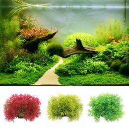 Wholesale Grass Ornaments - Mayirt 1pc Plastic Artificial Water Grass Plant Decor Aquarium Fish Tank Ornament Decoration Aquarium Landscape Supplies