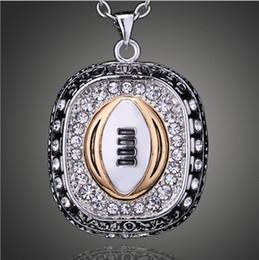 ohio staat schmuck Rabatt Vintage Halsketten Anhänger Ohio State University Buckeyes Champion Halskette Für Frauen Männer Schmuck Fans Klassische Sammlung