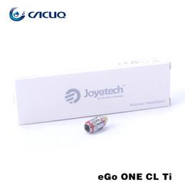 Wholesale Electronic Cigarette Joye Ego - Joyetech Ego One Coils 100% Joyetech Replacement Coils for Electronic Cigarettes Ego One Kits Joye Ego One CL Ti Ni Coils Head DHL