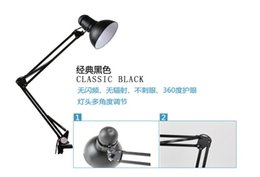 Wholesale Chinese Traditional Lamp - Free Shipping 100% high Quality Assurance Iron European table Lamp Foldable Long-Arm Book Reading Lights E27 Clip Desk Lamp light wholesales