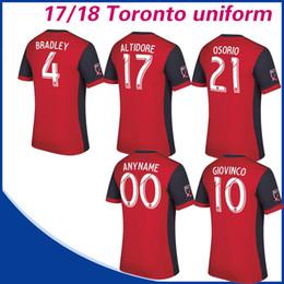 Wholesale Fc Uniforms - Canada Toronto FC home Soccer Jersey 17 18 BRADLEY GIOVINCO OSORIO ALTIDORE football shirt Toronto FC Short sleeved uniform