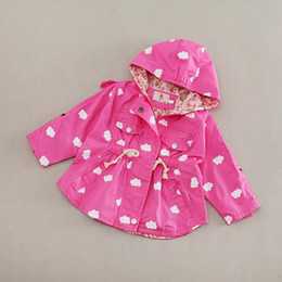 Wholesale Toddler Girls Dress Spring Coats - Girls Tops Kids Trench Coats Korean Girl Dress Kids Hoodies Baby Coats 2016 Spring Autumn Coat Child Clothes Toddler Clothing Ciao C22702